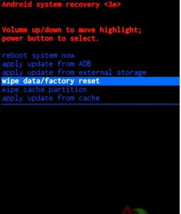 factory Hard reset ZTE